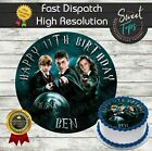 HARRY POTTER EDIBLE BIRTHDAY CAKE TOPPER DECORATION PERSONALISED