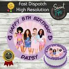 LITTLE MIX EDIBLE ROUND BIRTHDAY CAKE TOPPER DECORATION PERSONALISED