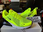 Nike Air Max 270 Volt Black Dark Grey White Neon Yellow Running Mens AH8050 701