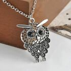 Gift Jewelry Bijoux Sweater Chain Owl Pendant Necklace Hollow Out Long Chain