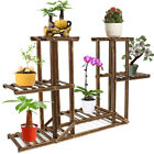 Wooden / Metal Plant Stand Flower Pot Shelves Corner Outdoor Indoor Garden Decor