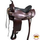 "DF200 15"" HILASON WIDE GULLET DRAFT WESTERN TRAIL ENDURANCE HORSE SADDLE U-0-VX"