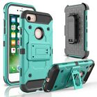 Heavy Duty Hybrid Durable Armor Case Shockproof Holster+Belt Clip 360 Kickstand