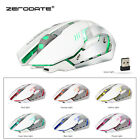 USB 2.4GHz Rechargeable Wireless Ergonomic Mouse 7 Colorful Light Gaming Mice PC