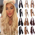 Women 3 4 Half Wig Long Straight Curly Wavy Daily Clip Hair Ombre Wigs Combs Fsz