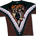 AC DC-HIGHWAY TO HELL-2 SIDED-V TIE DYE TSHIRT  L, XL Angus Young, RARE & NEW