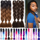 "3 Bundles 24"" 100g Ombre Xpression Jumbo Kanekalo Braiding Hair Extensions Grey"