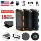 300000mAh Waterproof USB Solar Power Bank LED Battery Charger For Cell Phone USA