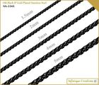 18k IP Black Gold Plated Stainless Steel Round Box Chain Bracelet and Necklace image