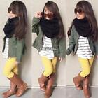 3PCS Girls Outfits Clothes T-shirt Tops+Long Pants & Jacket Blend Popular 01