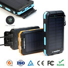 Waterproof 300000mAh 2USB Solar Power Bank Portable Battery Charger for Phone US