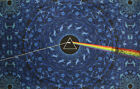 PINK FLOYD-3D DARK SIDE THE MOON-BLUE LYRIC TAPESTRY-30X45 OR 60X90-FREE GLASSES
