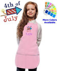 childrens personalised aprons - Personalized Kids Apron with 4th of July Embroidery Design