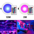 4/8PCS 5W 10W RGB LED Recessed Ceiling Panel Down Light Lamp + IR Remote Control