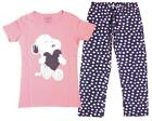 Womens Snoopy Loveheart T-Shirt Gift Pack Polka Pyjamas Plus Sizes 8 to 22