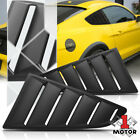 Black 1/4 Quarter Side Window Louvers Scoop Cover Vent for 15-18 Ford Mustang