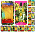 KoolKase Hybrid Silicone Cover Case for Samsung Galaxy Note 3 - Camo Mossy 04