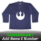 Rebel Alliance Star Wars Solid Navy Hockey Practice Jersey Optional Name Number