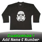 Stormtrooper Star Wars Solid Black Hockey Practice Jersey Optional Name