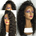 100% Brazilian Virgin Human Hair Lace Front Deep Curly Wig 360 Lace Frontal Hair