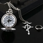 Anime Fullmetal Alchemist Pocket Watch with Necklace Ring Set Cosplay Prop Gift image