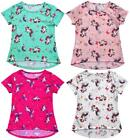 Girls Unicorn Horse Rainbow Star Butterfly Summer T-Shirt Top 1 to 10 Years