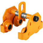 1/2-3t Push Beam Track Roller Trolley Overhead Heavy Loads Winch Brand New