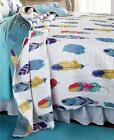 BOHO REVERSIBLE DREAM CATCHER FEATHER PRINT QUILT AND/OR SHAM BEDDING-3 SZ image