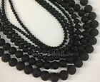 16in. stand matte black onyx round beads 3mm , 4mm -12mm various sizes pick one