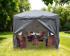 Garden Heavy Duty Pop Up Gazebo Marquee Party Tent Canopy 4 Side Panels 2x2M