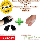 COMBO Bunion Splints Foot Toe Hallux Valgus Pain Relief Brace + Bunion Protector
