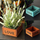 Love Letter Printed Wooden Box Container Succulent Planting Pot Photo Prop Witty