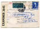 Germany 1941 POW letter card airmail to Estoril Potrugal forwarded to Rhyl Wales