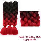 15 Colors Hair Braids Crochet Afro Ombre Braiding Hair 100% kanekalon hair 2pcs/pack  24inch 100g Jumbo Hair Braids Long