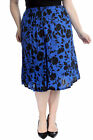 New Womens Plus Size Skirt Ladies Floral Print Skater Style Flared Sale Elastic