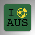 I Love Australia Soccer 2-Pack Decal Sticker | 4-Inches By 4-Inches