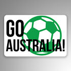 Go Australia Soccer 2-Pack Vinyl Decal Sticker | 3-Inches By 2-Inches