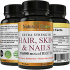 Fast Acting Hair, Skin and Nails Vitamins with Visible Results Biotin 10,000 mcg $5.97 USD on eBay