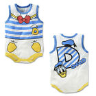 Disney Baby Newborn Boys Girl Cartoon Bodysuits Jumpsuit Romper Sunsuit Vest New