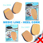 Heel Leather Shoes Insoles Cork Elegant for Lady & Man - MEDIC LINE - PROTECTION