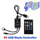 5V USB Music IR Controller 20 key Remote Sound Sensor For 5050 RGB LED Strip