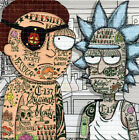 Criminal Rick and Morty by Rob IsraeI LE BLOTTER ART acid free lsd paper