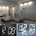 LED Digital Large Big Jumbo Snooze Wall Room Desk Calendar Alarm Clock 100-240V