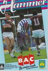 WEST HAM FOOTBALL PROGRAMMES 1989-90 ~ YOU CHOOSE OPPONENTS EXCELLENT CONDITION