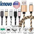 3FT Micro USB Fast Charging Phone Data Sync Charger Braided Cable For Lenovo