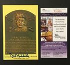 Carl Hubbell Signed Yello Hall Of Fame Plaque Card Cooperstown New York JSA