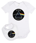 Baby romper suit one piece PLUS a baby bib rock legends PINK FLOYD new cotton