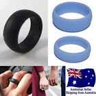 New Silicone Rubber Men/women Wedding Ring Flexible Band Sport Gym Safe Work 1pc