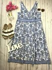 East With Anoki Sz 14 Cotton Blue Summer Dress Paisley Pattern Summer Holiday