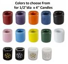 Mini Chime Candle Porcelain Holder  14 colors to choose from